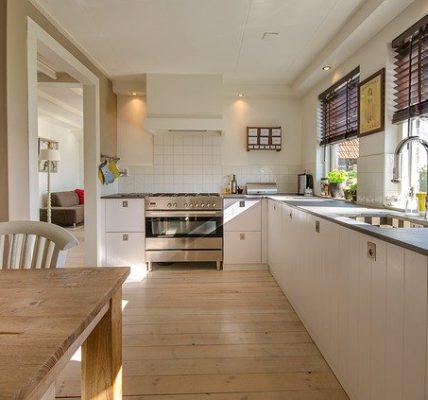 kuchnia z oknem narożnym